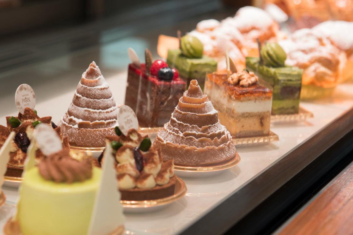 露台餐厅Piare的1F蛋糕角